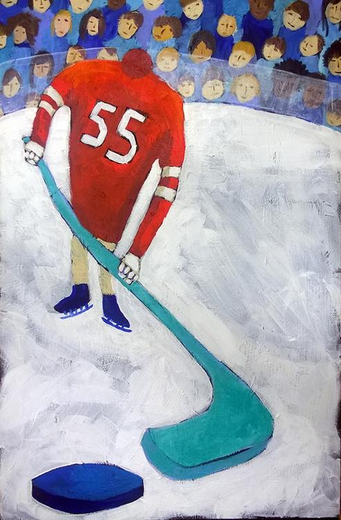 Hurricanes hockey - painting - krinkn | ello