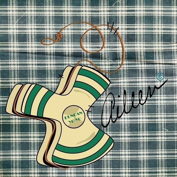 de Yo-yo - yoyo, illustration, vintage - aileencopyright | ello