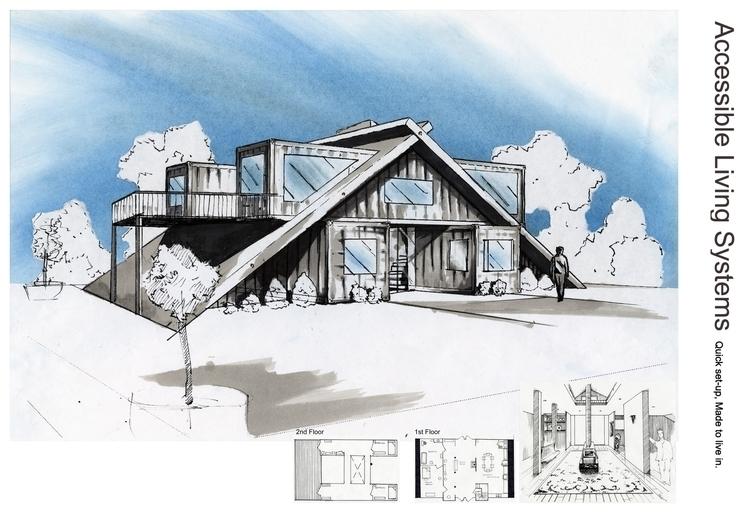 Shipping container home - design - umeshu2016 | ello