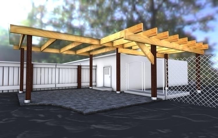 Porch proof concept rendering - architecture - umeshu2016 | ello