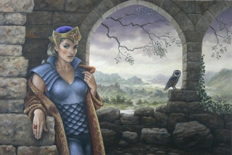 Lady castle Oil canvas, 60x90 c - marina-7013 | ello