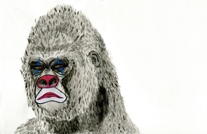 terrifying robotic gorilla head - kateoberg | ello