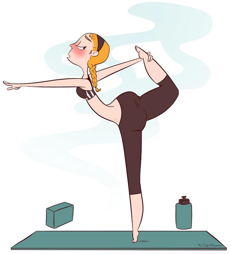 Hot Yoga - hotyoga, illustration - nicterhorst | ello