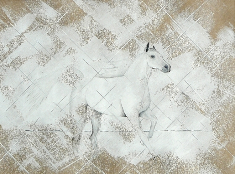illustration, painting, horse - patrickvandeput | ello