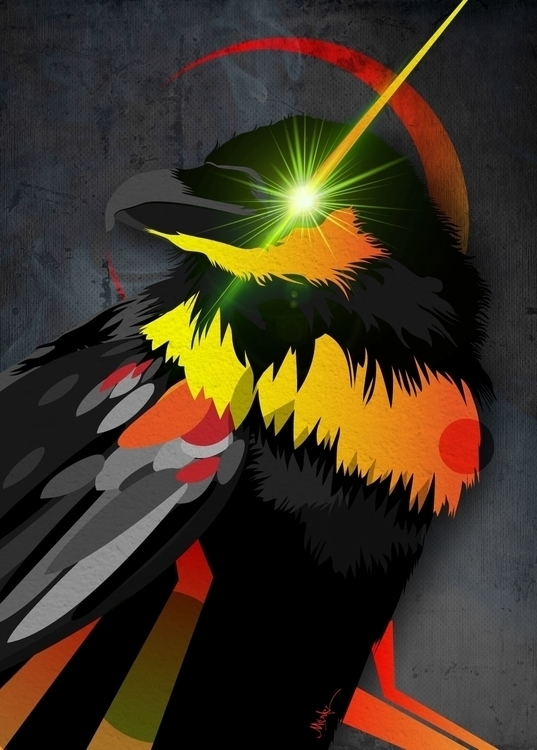 Raven 2330 - illustration, painting - umeshu2016 | ello