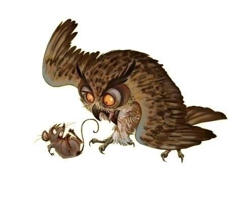 fun churning Owl - drawing - sksk270 | ello