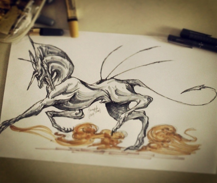 Kante, OC - illustration, characterdesign - feradami | ello