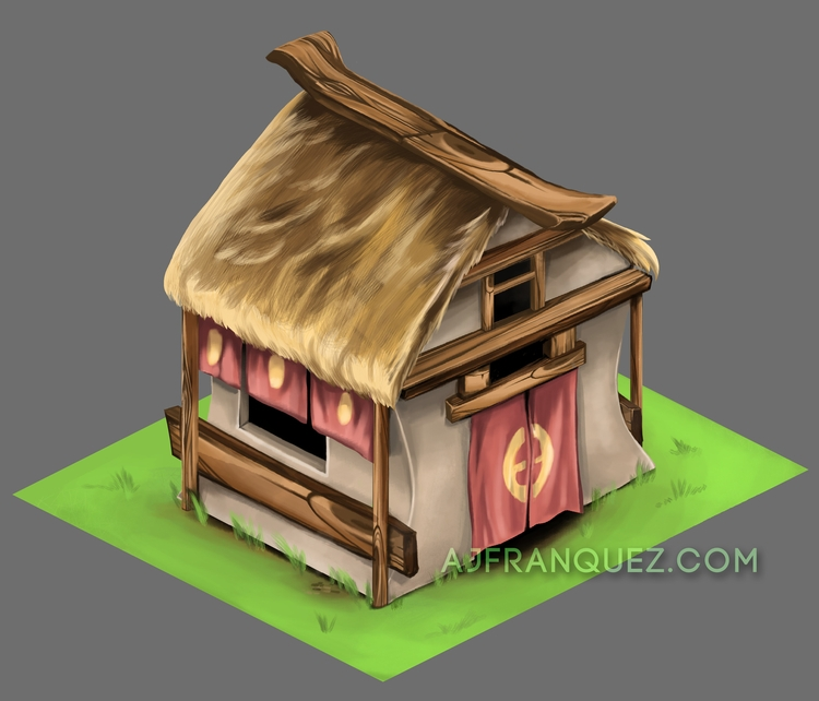 House sample - gameart, game, house - fishfranqz | ello