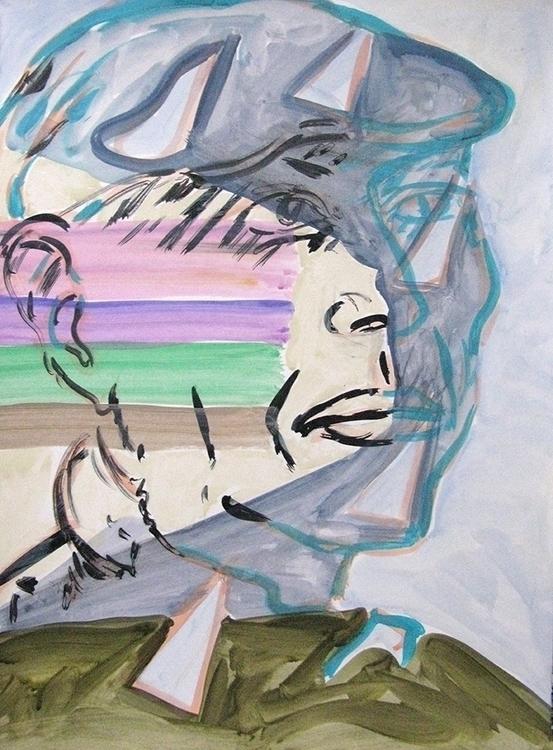 Alan acrylic paper 2015 - portrait - frankcreber | ello