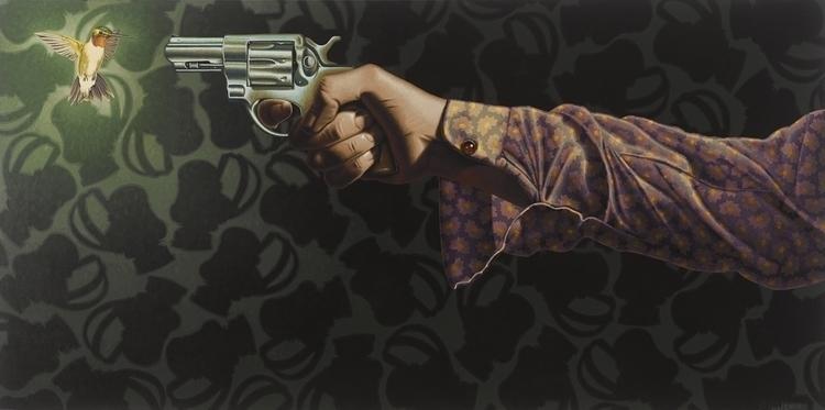 Hold Breath - hummingbird, gun, arm - stephenhallny   ello