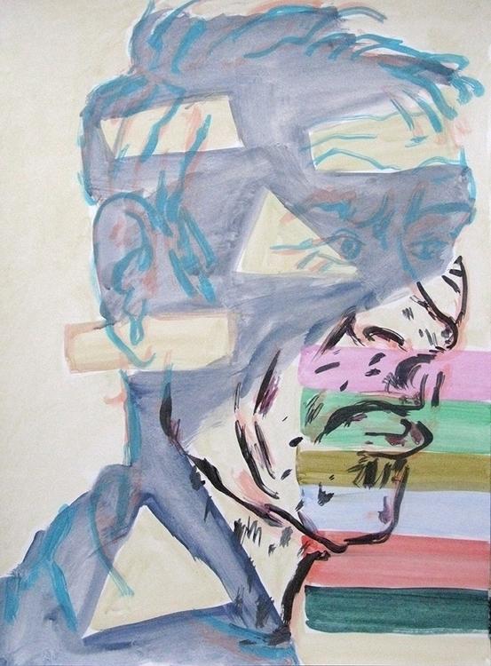 David acrylic paper 2015 - portrait - frankcreber | ello