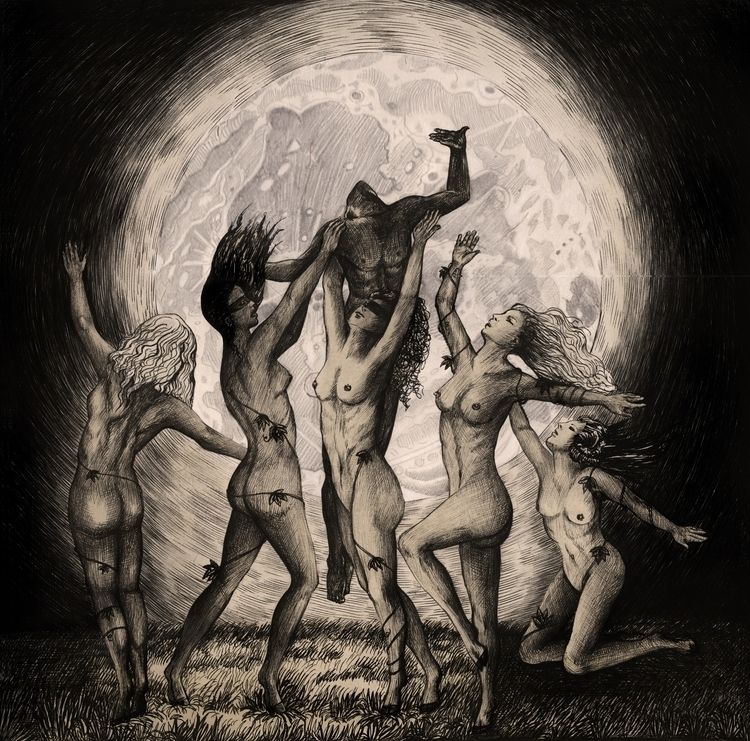 Dancing Moonlight - illustration - kamaarts | ello