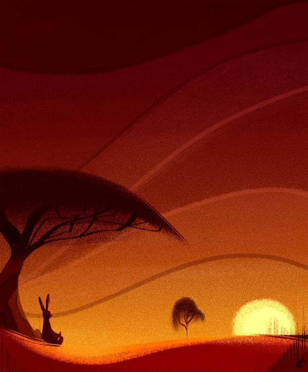 Watch Sunset - illustration, kangaroo - phamboola | ello