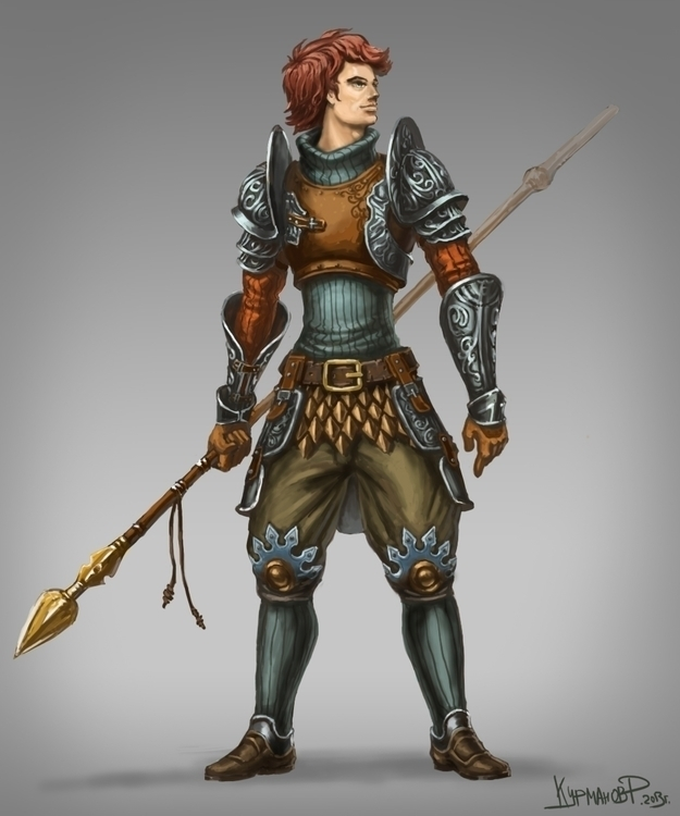 Warrior - illustration, conceptart - ruzvelt-1139 | ello