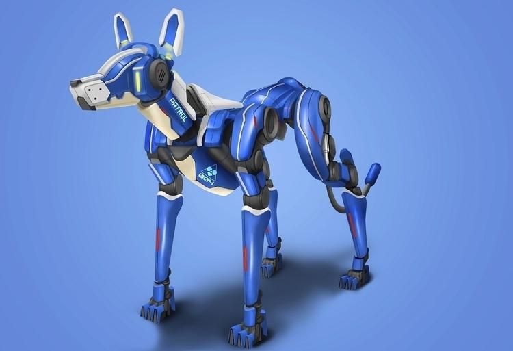 HARF, patroling drone - dog, robot - kakadede | ello