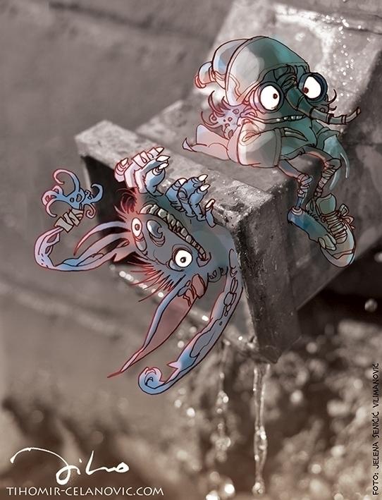 Creatures world 3 - illustration - tiho-3213 | ello
