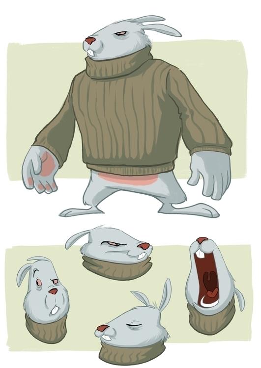 Thug rabbit design - bunny, characterdesign - davepryor | ello