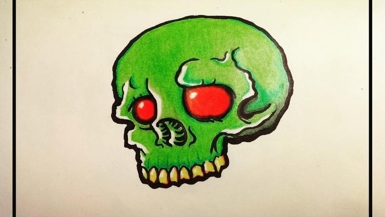 Skull Draw - illustration, characterdesign - antoniovc | ello