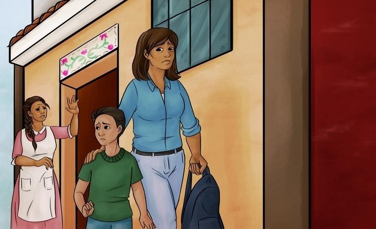 book cover - illustration, children'sbook - guemoza   ello