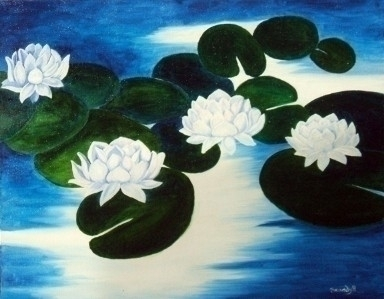 Lilies - painting - brandyhouse | ello