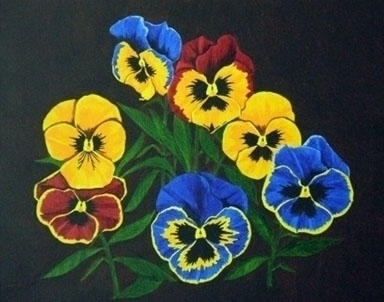 Pansy Lions - painting - brandyhouse | ello