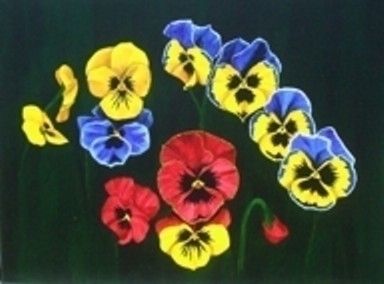 Pansy Lions 2 - painting - brandyhouse | ello