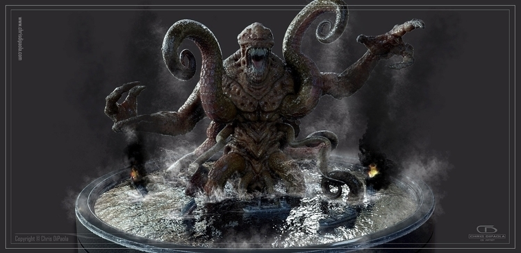 Kraken - monster, creature, 3d, visualdevelopment - chrisdipaola | ello