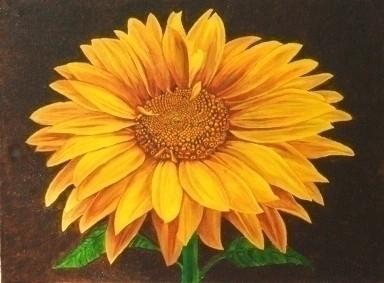 Sunny Flower 2 - painting - brandyhouse | ello