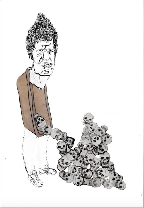 'Skull-kids bathtub - illustration - jamescampbell-1440 | ello