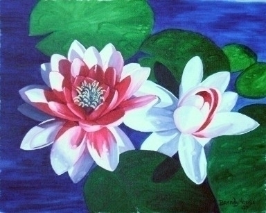 Waterlily Dance - painting - brandyhouse | ello