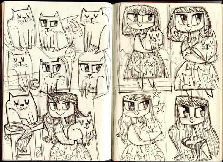 Girl cat - cats, girl, cute, cutegirl - eddycrosby | ello