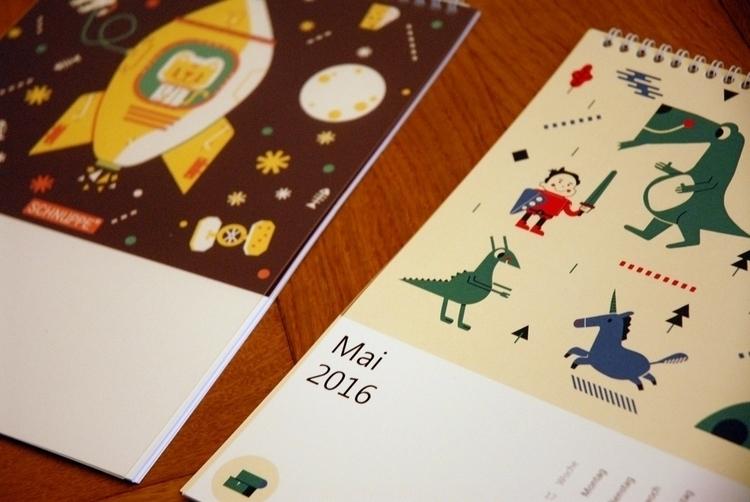calendar 2016 - calendar,, illustration - schnuppe | ello