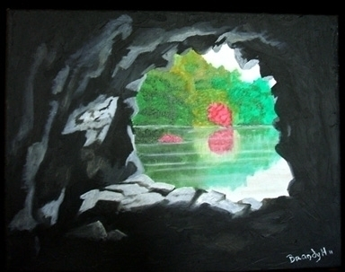 Cave View - painting - brandyhouse | ello