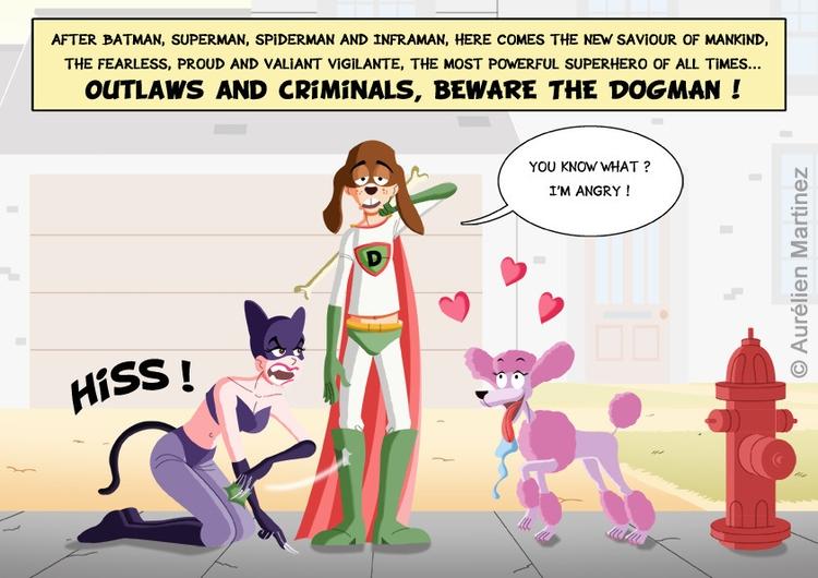 Dogman, december 2015 - illustration - aurelienmartinez | ello