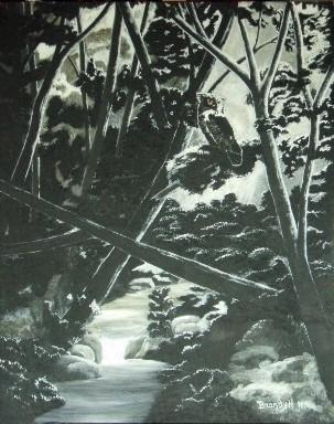 Moonlight Shadows - painting - brandyhouse   ello