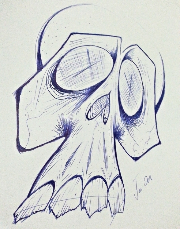 illustration, sketch, skull - scsladecarter | ello