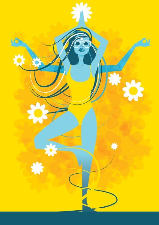 yoga illustration, fun - yogaart - giantlobster-9039 | ello