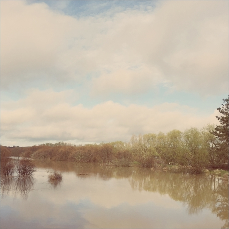 Flood waters - landscape, newzealandriver - marham1160 | ello