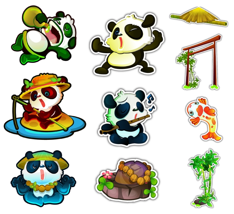 Icons slot game Panda Panda - panda - jinyasinee | ello