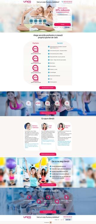 Landing Page Unica Sport - #sportsite - julia-3807 | ello