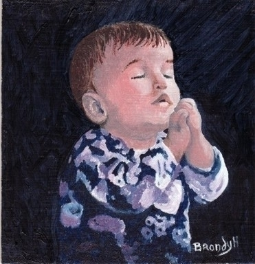 Pray Baby - painting - brandyhouse | ello