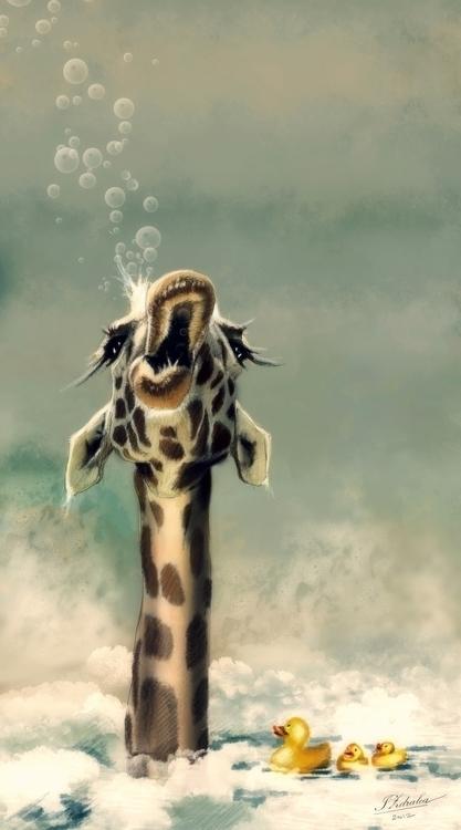 bath - illustration, digitalpainting - ioanaz | ello