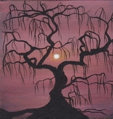 Weeping Tree - painting - brandyhouse | ello