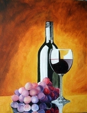 Wine Grapes - painting - brandyhouse | ello