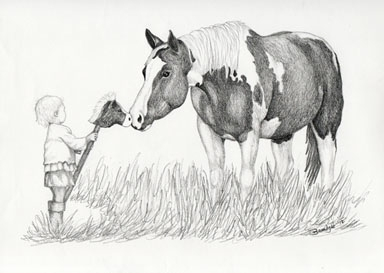 Horse - drawing - brandyhouse | ello