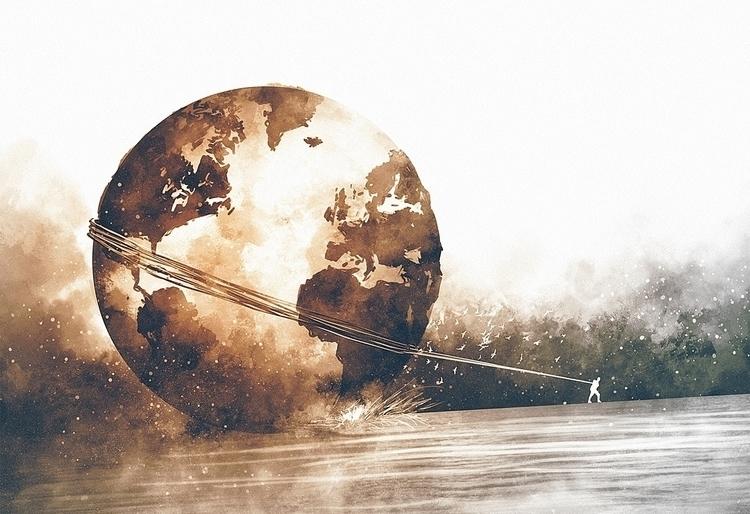 Burden Carrier - burden, world, illustration - samiswell | ello