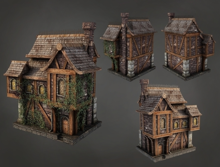 House - animation, gameart, 3d, environment - baratha | ello