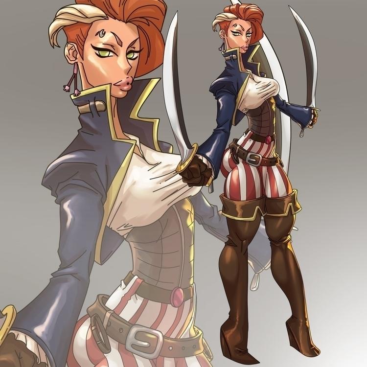 Ayren pirate - illustration, characterdesign - ghandourizm | ello