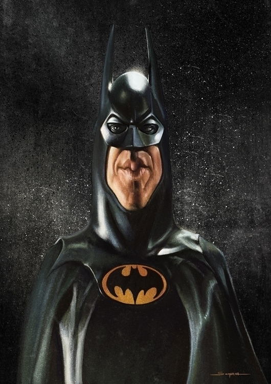 Batman - batman, caricature, timburton - lucassomariva | ello