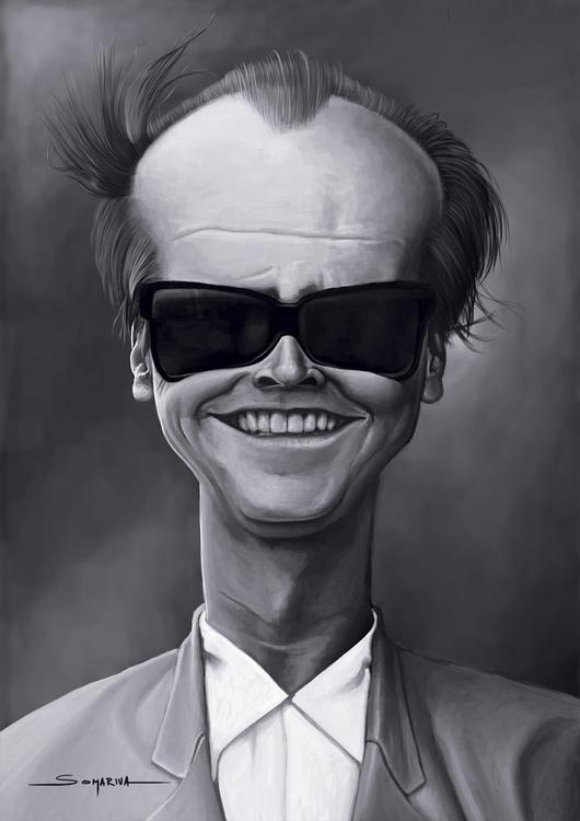 Jack - actor, jacknicholson, caricature - lucassomariva | ello